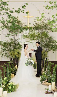 アーセンティア迎賓館 柏 憧れのガーデンリゾートW!画像2-1 Tree Wedding, Floral Wedding, Wedding Ceremony, Our Wedding, Wedding Flowers, Wedding Venues, Wedding Dresses, Green Farm, Silver Anniversary