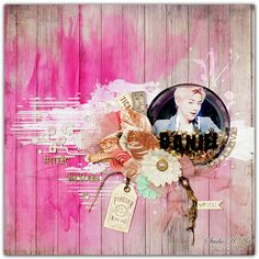 Challenge#141 - scrapki-wyzwaniowo: June 2017- See it in Pink - 1st reveal - HeeSun Kim