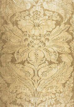 Cordwain Damask Gilt 65872 by Schumacher Fabric - Fabric Carolina