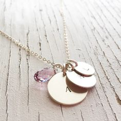 A personal favorite from my Etsy shop https://www.etsy.com/listing/223464860/mommy-necklace-hand-stamped-jewelry