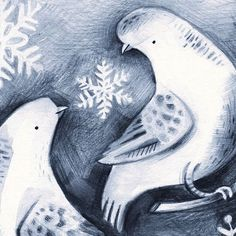 Working on some festive birds  #illustration #dove #festive #turtledoves #graphite #sketchbook #drawing ##birds #tistheseason #snowflakes #kassreich #closeup
