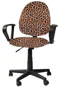 Leopard seat covers available for your old office chair at