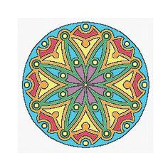 Mandala Cross Stitch Colorful Mandala Cross by CowbellCrossStitch