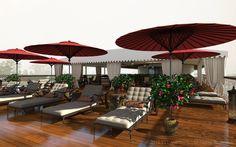 Tom's NEW All-suite RV Irrawaddy Explorer, Sun Deck.  Tom Harper River Journeys. #thrj #Myanmar
