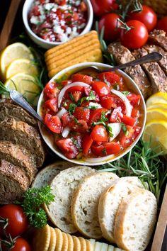 Bruschetta Toppings, Tomato Bruschetta, Caprese Salad, Authentic Italian Pizza, Marinated Tomatoes, Classic Salad, Whipped Feta, Tomato Season, Bread Alternatives
