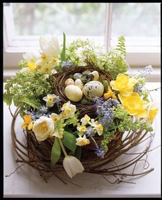 Une jolie déco de table pour le repas de Pâques, facile et tellement printanière.