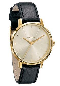NIXON Womens The Kensington Leather gold