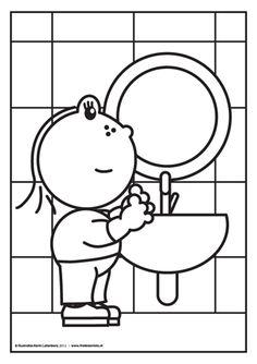 Na het plassen, handen wassen! En dat weet Lola heel goed.