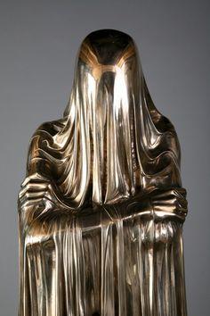Kevin Francis Gray    Face-off (detail), 2007, bronze, automotive, paint, wood plinth  I love this piece.