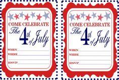 July 4th Printable Invitations