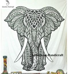 Indian Wall Hanging Urban Outfitter Boho Bohemian Decor Hippie Elephant Tapestry