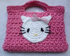 Hello Kitty Hand Crocheted Toddler Bag Tote by FroggyPrincess, $15.00