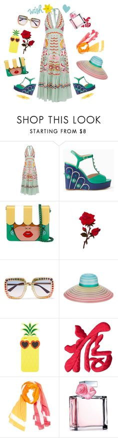 """""""Let me wish"""" by pilar2017 ❤ liked on Polyvore featuring Temperley London, Kate Spade, Yazbukey, Gucci, Missoni, Charlotte Russe, Hermès and Ralph Lauren"""
