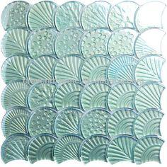 Glass Mosaic Tiles, Stone Mosaic, Mosaic Art, Mermaid Tile, Fish Scale Tile, Condo Design, Interior Design, Tile Suppliers, Tile Stores