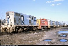 RailPictures.Net Photo: Numerous Chicago, Rock Island & Pacific (Rock Island) EMD GP7R at Silvis, Illinois by Rob Kitchen