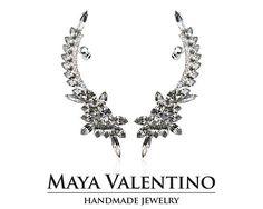 Handmade Jewelry Boutique Online shop by MayaValentino Prom Jewelry, Jewelry Model, Silver Jewelry, Cuff Earrings, Statement Earrings, Silver Earrings, Climbing Earrings, Handmade Jewelry, Unique Jewelry