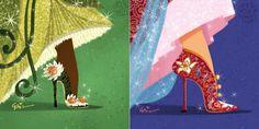 Personagens Disney com sapatos de designers renomados | Just Lia
