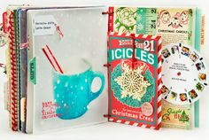 December Daily - Day 21 by MarieL at Adique-Alarcon Adique-Alarcon Phillips Mounier Calico Christmas Mini Albums, Christmas Journal, 25 Days Of Christmas, Christmas Scrapbook, Christmas Minis, Christmas Crafts, Retro Christmas, Winter Holiday, December Daily