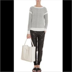 NWT Vince. Sweater Brand new with tags. Perfect paired with leather shorts for summer! Vince Sweaters Crew & Scoop Necks