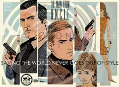 The Man from U.N.C.L.E. Art by Sic Monkie