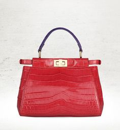 A limited-edition croco Peekaboo that celebrates the reopening of Fendi s  Leathergoods corner at Harrods 2df9840d3f413