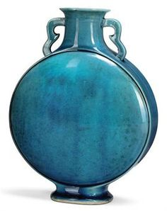 turquoise objects | CHINESE TURQUOISE GLAZE MOONFLASK | 18TH/19TH CENTURY | Interiors ...