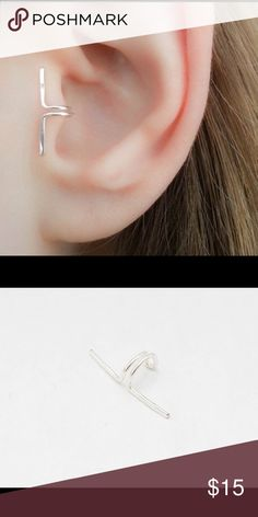 saleEdgy Tragus Cuff 925 Sterling Silver An ultra edgy 925 Sterling Silver Tragus Clip on Cuff. To wear simply slide onto your ear and gently squeeze until comfy. nejd Jewelry Earrings