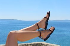 Toe Ring Ankle Strap Barefoot Sandals With Buckles - Breeze by Calpas on Etsy https://www.etsy.com/listing/96544970/toe-ring-ankle-strap-barefoot-sandals