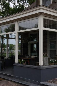 Porch Enclosures, English Farmhouse, Hacienda Style, Glass Roof, Garden Inspiration, Future House, Building A House, Pergola, Outdoor Decor