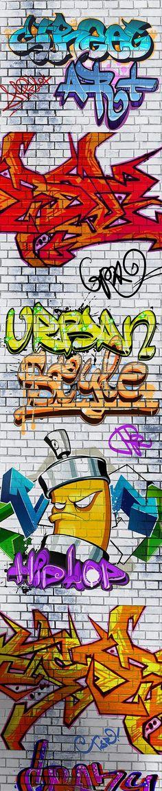 Tag Graffiti Wallpaper | Departments | DIY at B&Q