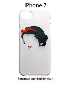 Snow White Minimalistic iPhone 7 Case Cover Wrap Around