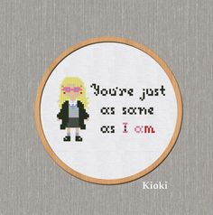Cross stitch pattern Quote Luna Lovegood from Harry Potter Instant Download PDF