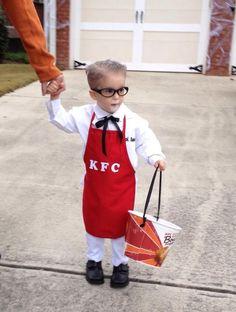 Young Colonel Sanders Costume #halloween #fast_food #restaurant #kid #KFC