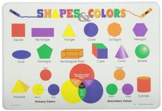 Painless Learning Shapes and Colors Placemat Painless Learning http://www.amazon.com/dp/B000H6F4XU/ref=cm_sw_r_pi_dp_1Y8.tb1YAP7BD