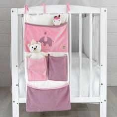 "Baby girl bed box ""Elephant"" #baby #girl #bed #box #elephant"