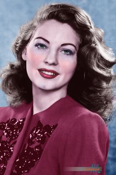 Photo colorized by Alex Lim Old Hollywood Stars, Hollywood Actor, Golden Age Of Hollywood, Vintage Hollywood, Hollywood Actresses, Classic Hollywood, Popular Actresses, Classic Actresses, Beautiful Actresses
