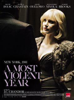 A Most Violent Year poster met Jessica Chastain #AMostViolentYear #JessicaChastain.. Loved it!!!