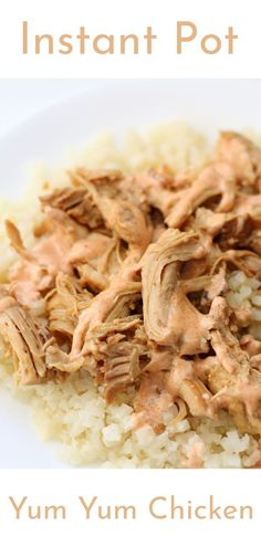 Easy low carb chicken recipe made in your Instant Pot or Crockpot Low Carb Chicken Recipes, Chicken Flavors, Crockpot Recipes, Bbq Chicken Sandwich, Chicken Tacos, Chicken Stroganoff, Yum Yum Sauce, Make Ahead Lunches, Best Instant Pot Recipe