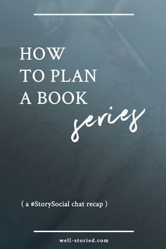 Planning a book series can be an overwhelming process, but it doesn't have to be impossible. Check out these tips & tricks from dozens of writers in this #StorySocial chat recap!