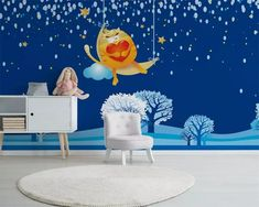 Wall wallpaper Custom flash wallpaper under the stars home decor kids room, wallpaper background, mural Vinyl wall Children Wallpaper, Kids Room Wallpaper, Wall Wallpaper, Wallpaper Backgrounds, Flash Wallpaper, Under The Stars, Home Decor, Wallpaper, Decoration Home