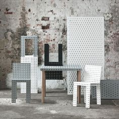 Polish designer Oskar Zieta will launch a collection of modular furniture made from Meccano-like perforated steel plates at MOST in Milan