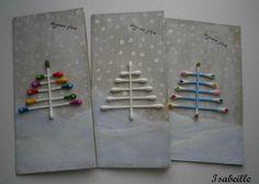Cotton swab q tips trees Christmas Arts And Crafts, Kids Christmas, Handmade Christmas, Holiday Crafts, Christmas Cards, Christmas Decorations, Christmas Ornaments, Theme Noel, Poster