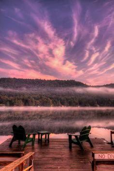 Big Moose Lake Sunrise in the Adirondacks