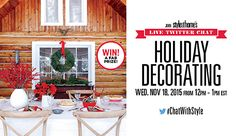 Join Style at Home's live Twitter chat: Holiday decorating