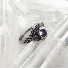 Liliana vintage silver and amethyst ring