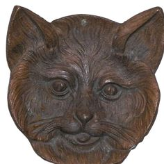 Vintage Metal Cat Face Dish from KLMAntiques Exclusively on Ruby Lane