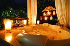 relaxing bathtime