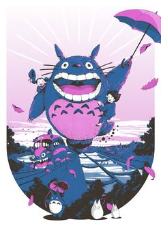 Produced exclusively for our 2017 Summer Screen Prints exhibition at Somerset House, each limited edition screen printed poster is available at Movie Prints, Kids Prints, Screen Print Poster, Poster Prints, Graphic Posters, Pop Culture Art, My Neighbor Totoro, Comic Art, Screen Printing
