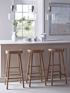NEW Curved Top Stool - Anthracite