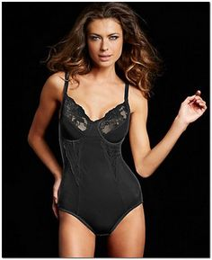 Look gorgeous and feel even sexier in this Flexees Pretty Shapewear Body Briefer. Fashion and function combine to create firm control shapewear with beautiful lingerie styling. Smooths and slims for all-over control. Wholesale T Shirts, Women's Shapewear, Beautiful Lingerie, Elegant Lingerie, Nice Legs, Looking Gorgeous, Cute Fashion, One Piece, Female